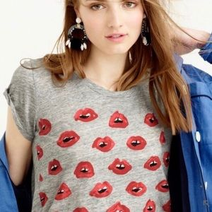 J.Crew | Kiss kiss T-shirt